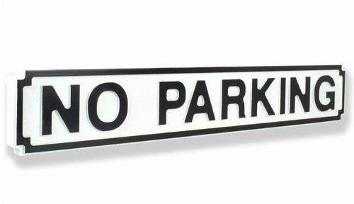No Parking New Shape Clean White